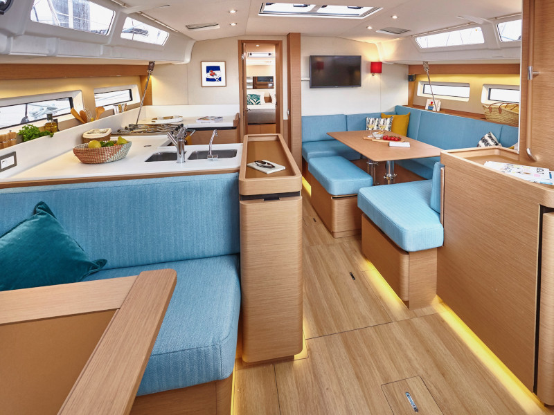 Sun Odyssey 490 (GERI (NEW MODEL, BLUE HULL, AC+GEN.)) Interior image - 3