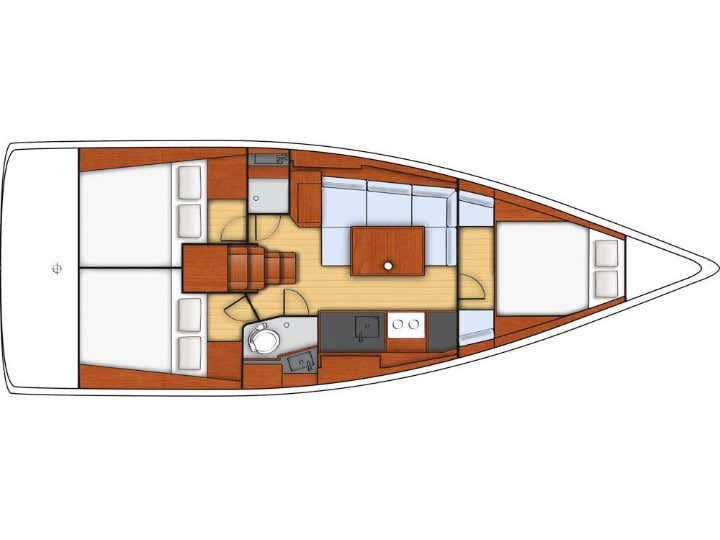Oceanis 38 (GREY PEARL) Plan image - 1