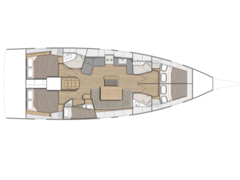 Oceanis 46.1 (Sara) Plan image - 1