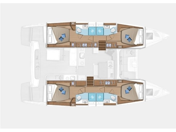 Lagoon 46  (EXCELLENCE) Plan image - 2