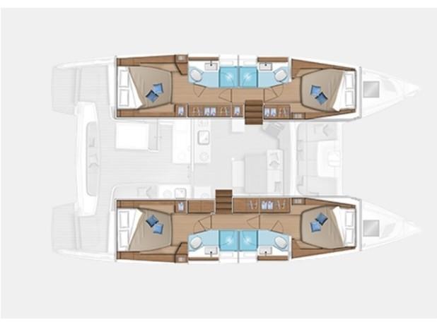 Lagoon 46  (BARBARELLA  III) Plan image - 2