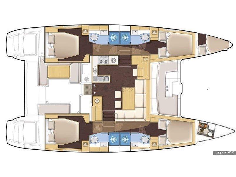 Lagoon 450 Sport - Skippered (Lag45003) Plan image - 2