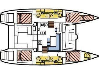 Lagoon 450 SporTop (Belle) Plan image - 2