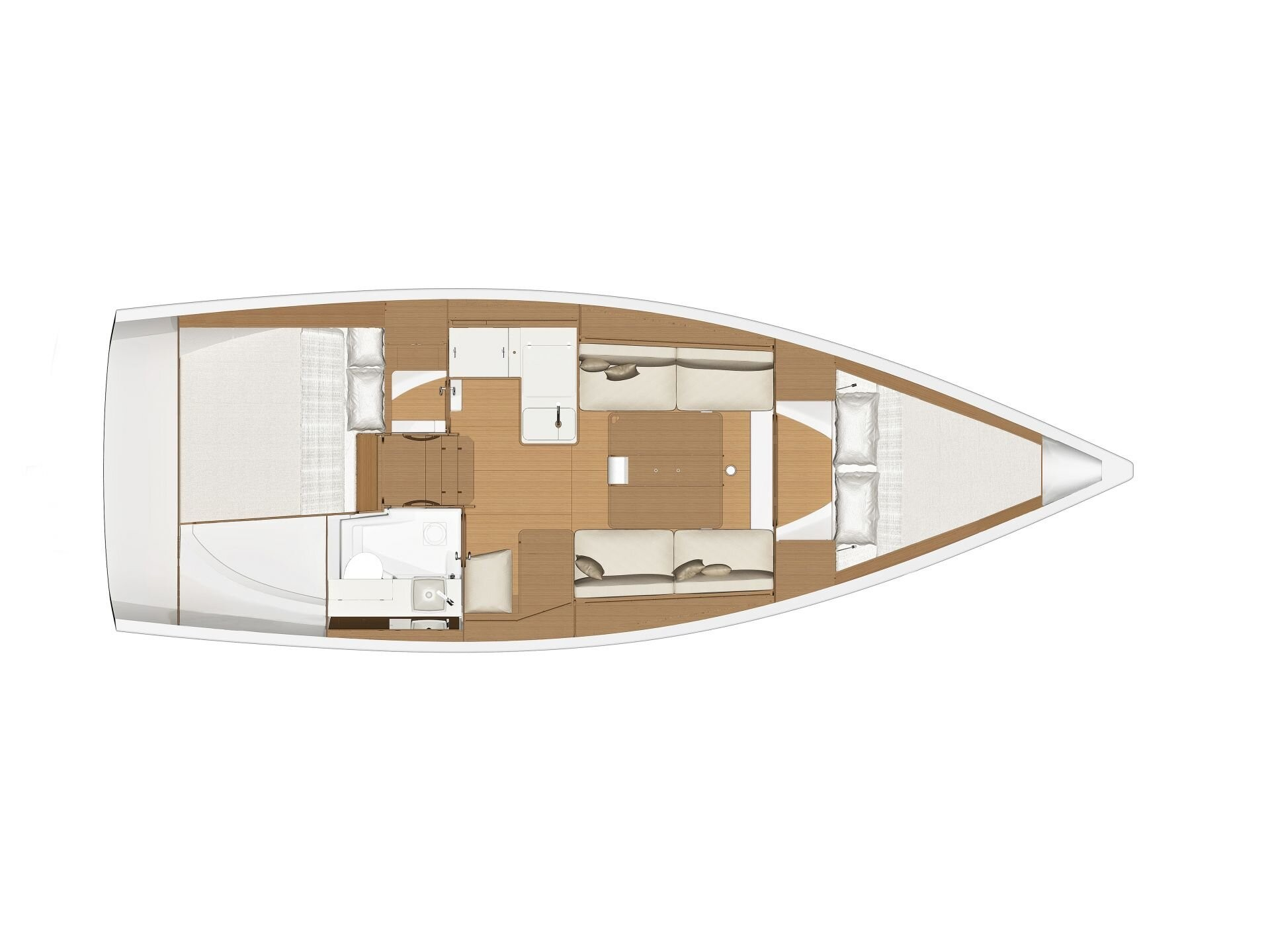 Dufour 360 Grand Large (Harry) Plan image - 1