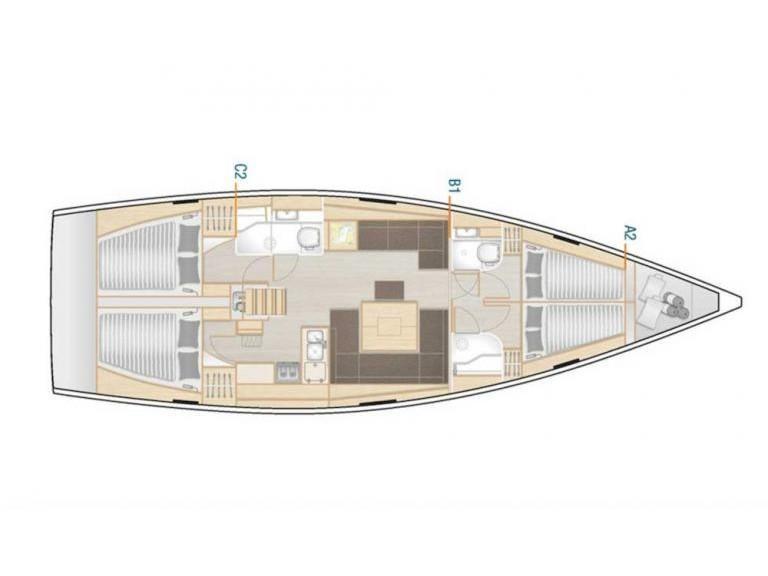Hanse 458 (Hanse 458  ( Xristina)) Plan image - 2