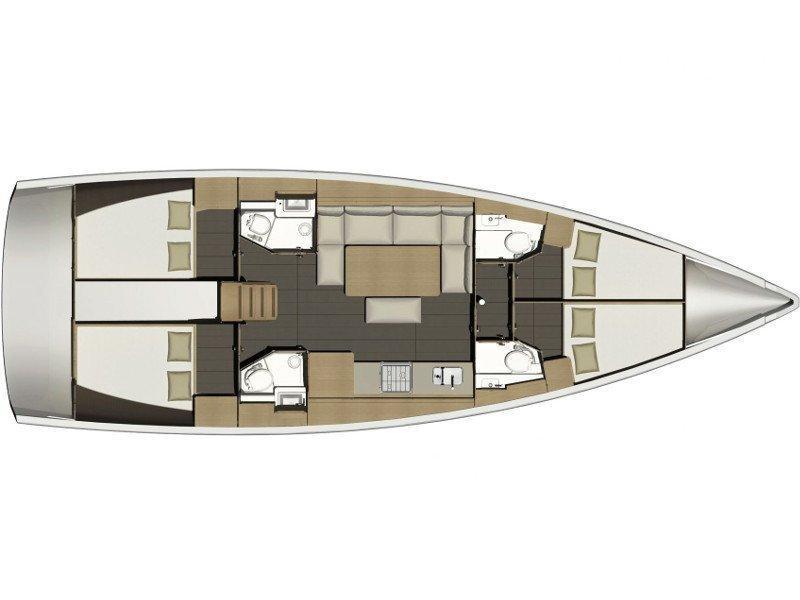 Dufour 460 Grand Large (LISABET 2018+AC) Plan image - 4