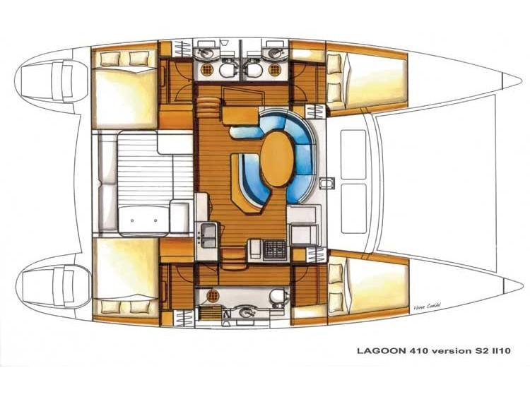 Lagoon 410 S2 (Andioa) Plan image - 1