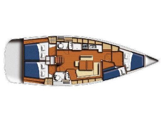 BENETEAU Oceanis 43.4 REFIT 2018 (TOPAZ ) Plan image - 10