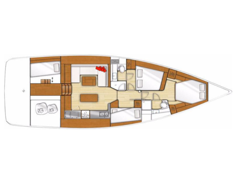 Beneteau Sense 50 (Free Bird) Plan image - 2