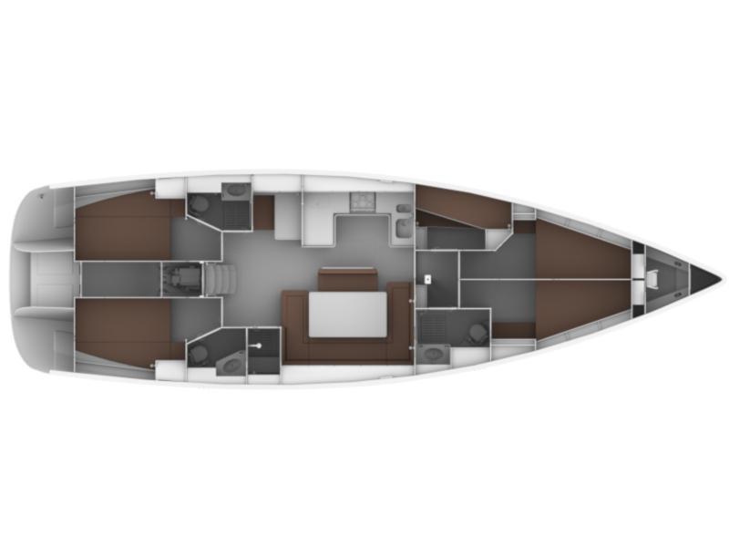 Bavaria Cruiser 50 (Hera) Plan image - 3