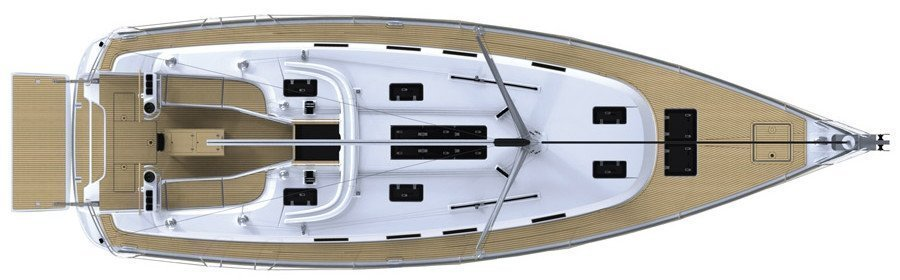 Bavaria 45 Cruiser (iBulut) Deck Layout - 7