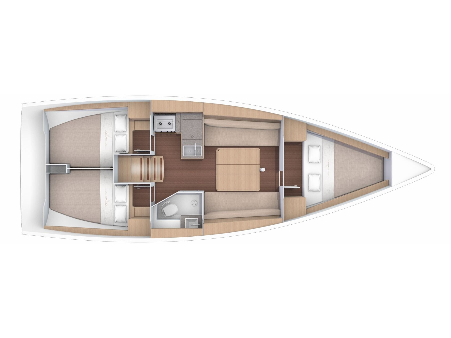 Dufour 360 Grand Large  (Barbossa) Plan image - 2