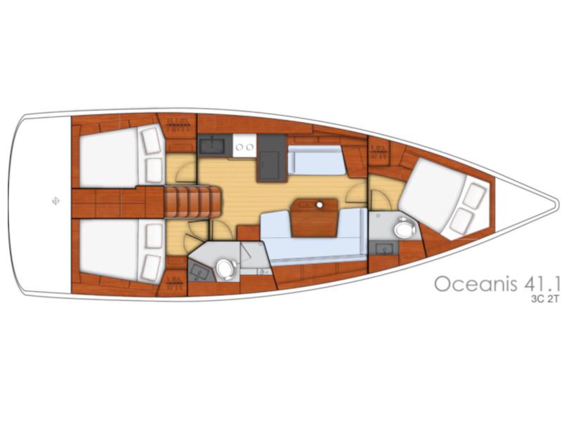 Oceanis 41.1 (White Bird) Plan image - 7