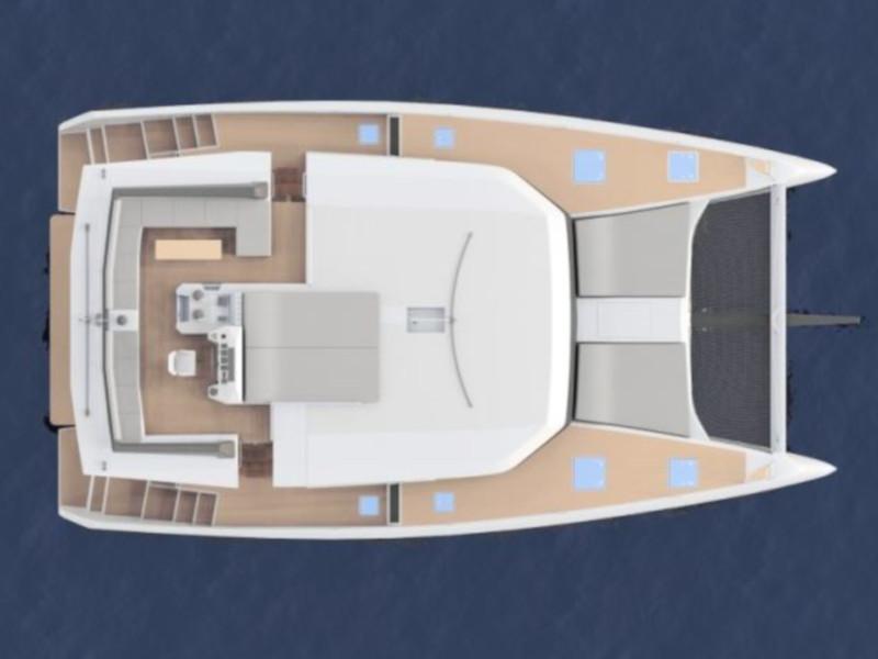 Dufour 48 Catamaran (SHU - BLUE HULL, AC+GEN., UNDERWATER LIGHTS)  - 4