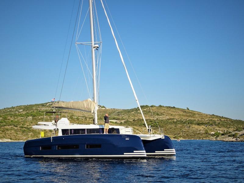 Dufour 48 Catamaran (YAM - BLUE HULL, AC+GEN., UNDERWATER LIGHTS) Main image - 0
