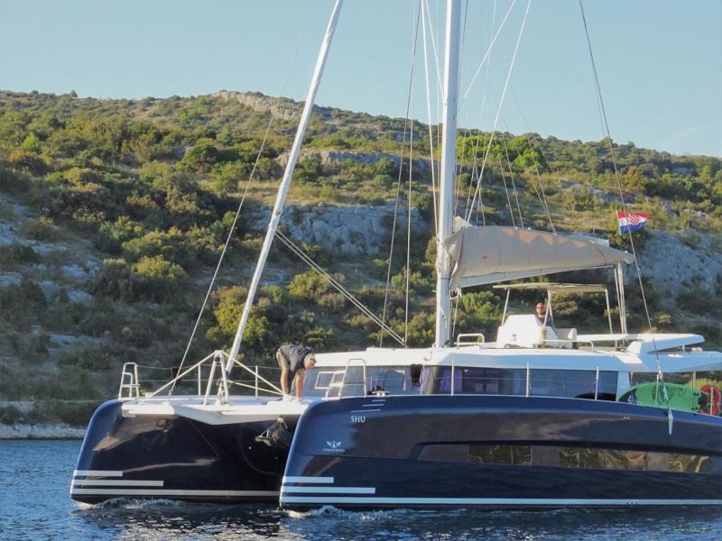 Dufour 48 Catamaran (YAM - BLUE HULL, AC+GEN., UNDERWATER LIGHTS)  - 2