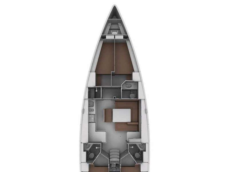 "Bavaria Cruiser 45 (Sea Melody (""Quantum"" Sails)) Plan image - 7"