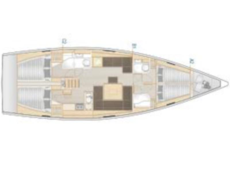 Hanse 458 (Melusine) Plan image - 1