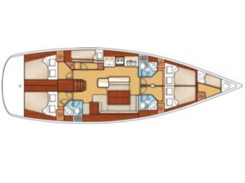 Oceanis 50 Family- 5+1 cab. (La Stella) Plan image - 9