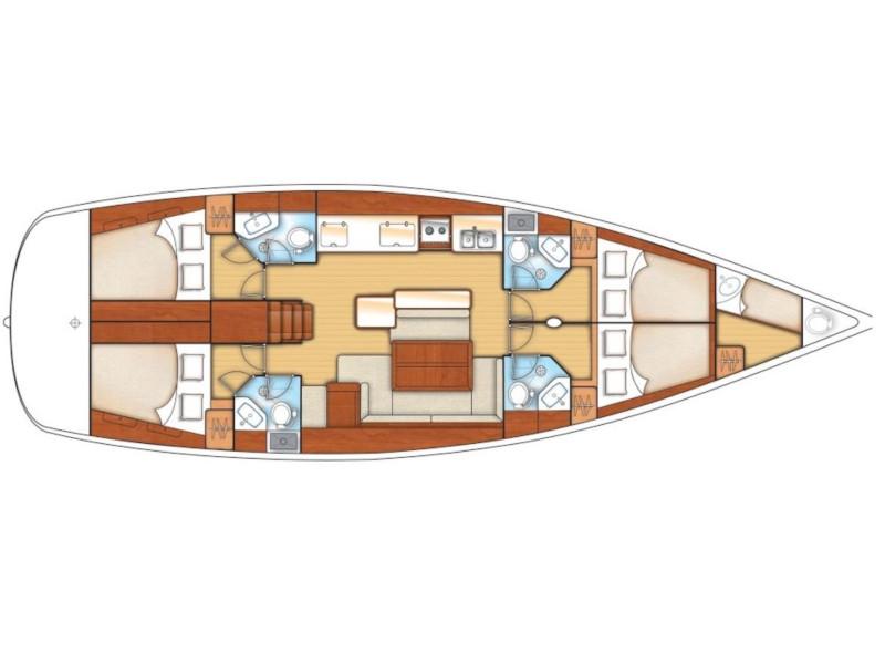 Oceanis 50 Family- 4+1 cab. (Vittoria) Plan image - 4