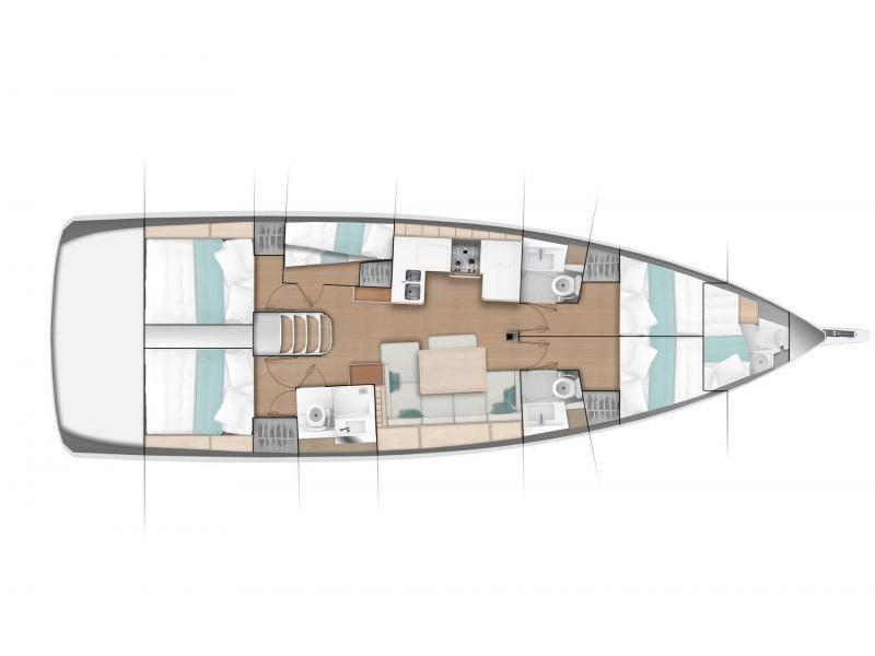 Sun Odyssey 490 6 cabins (ath49016) Plan image - 2
