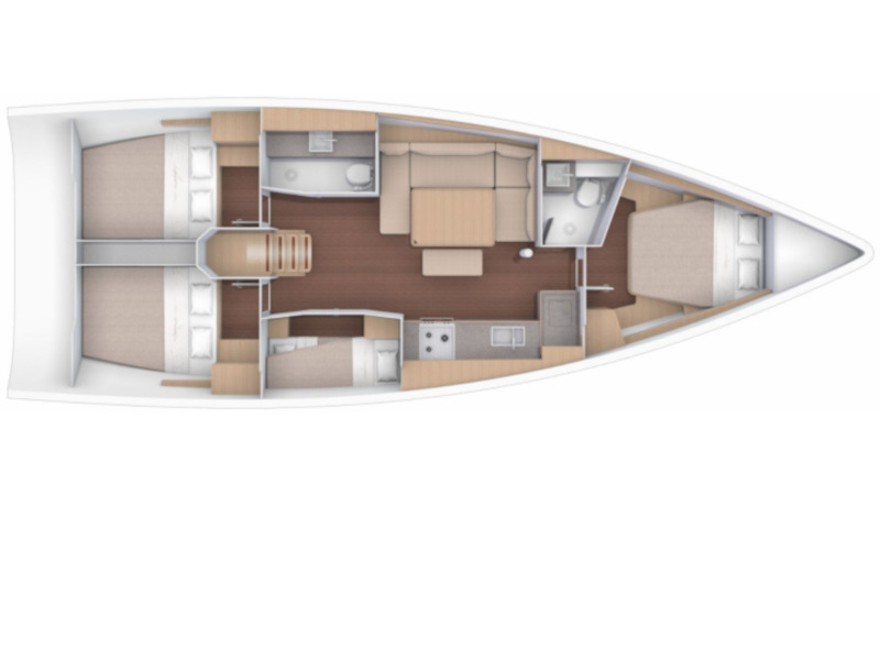 Dufour 430 Grand Large (Fiodena) Plan image - 2