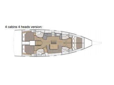 Oceanis 46.1 (SATURN) Plan image - 1