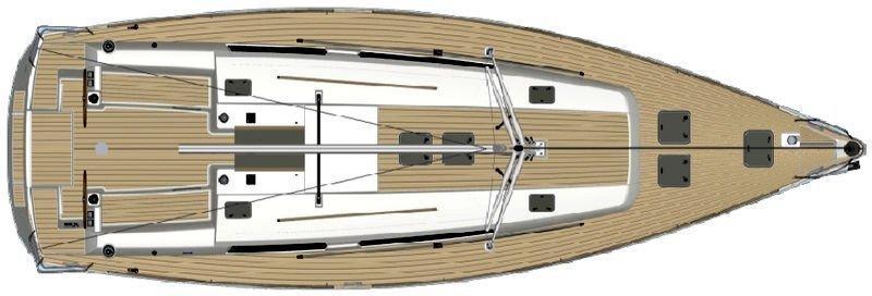 Dufour 450 GL (Dans) Deck Layout - 36