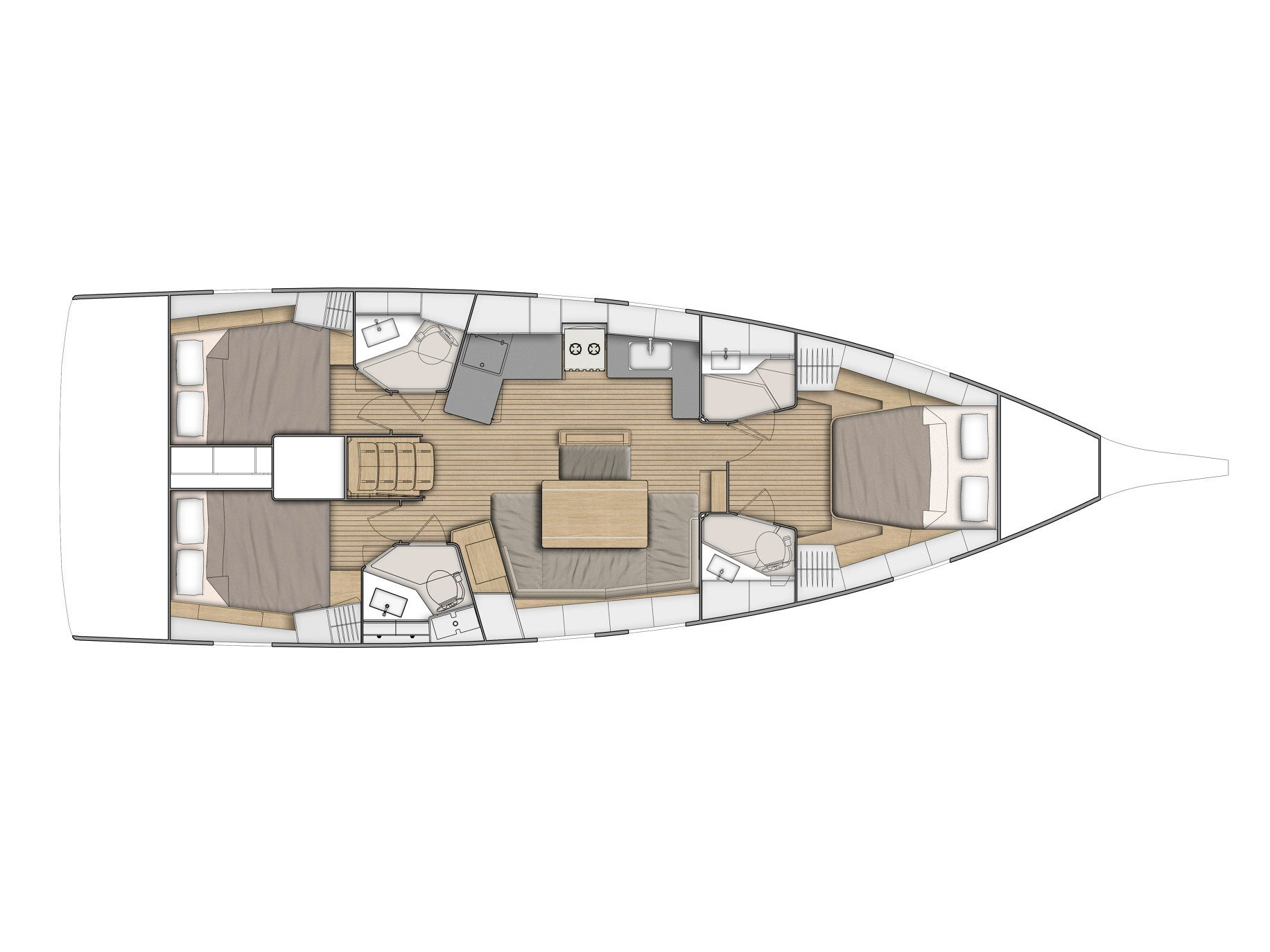 Oceanis 46.1 (MY COURSE) Plan image - 2