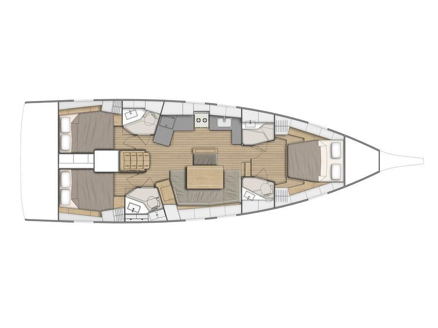 Oceanis 46.1 (AIR 2) Plan image - 2
