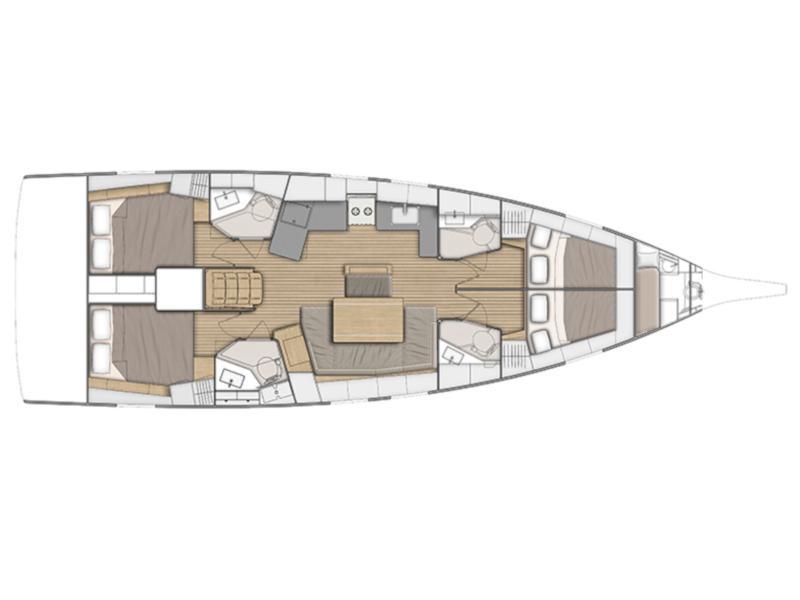 Beneteau 46.1 (Infinity) Plan image - 1