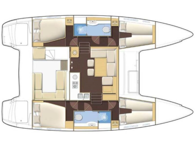 Lagoon 400 (Nusa) Plan image - 14