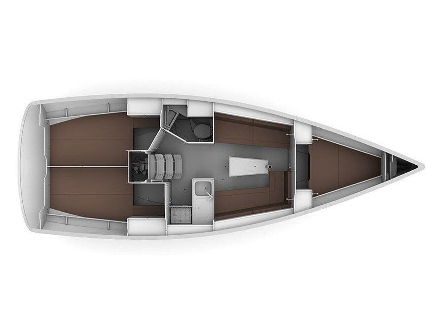 Bavaria Cruiser 34 - 3 cab (Aria ) Plan image - 17