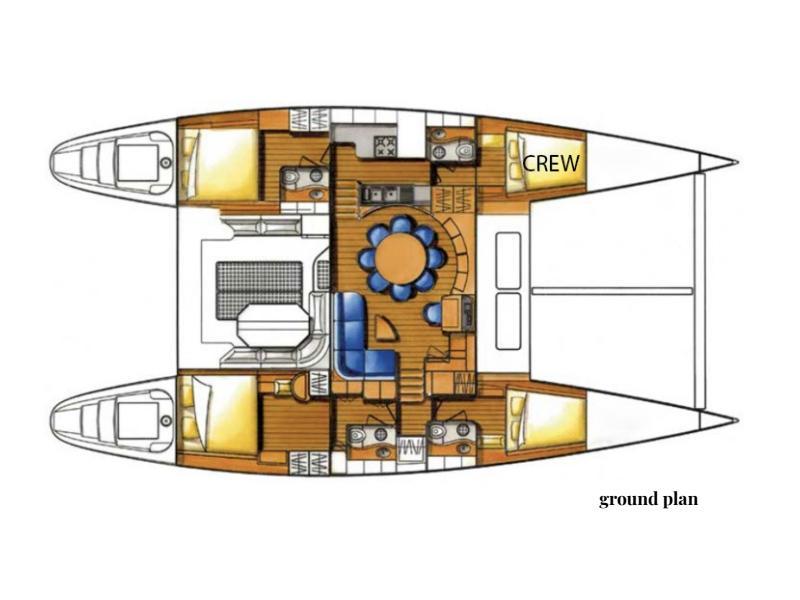 Lagoon 570 Mala (Top crew-unique experience) Plan image - 6