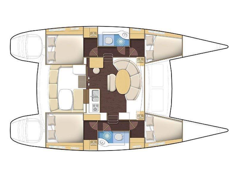 Lagoon 380 S2 (L380-15) Plan image - 1