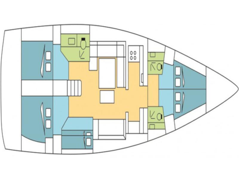 Dufour 512 Grand Large (Head Quarter) Plan image - 3