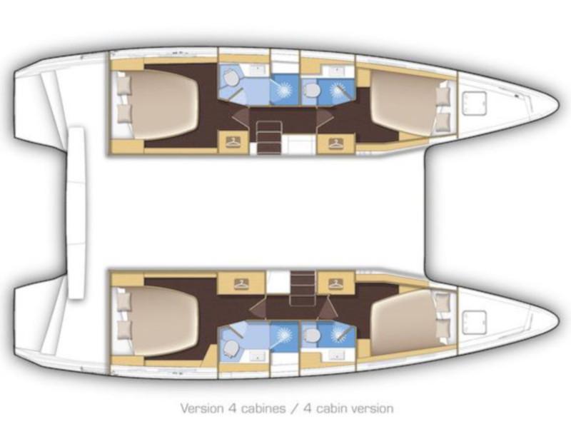 Lagoon 42 (Mares) Plan image - 4