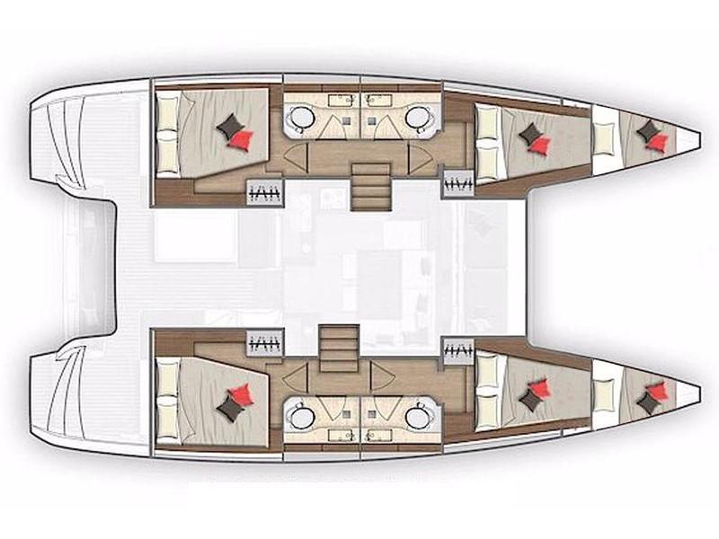 Lagoon 40 (Il Vento) Plan image - 4