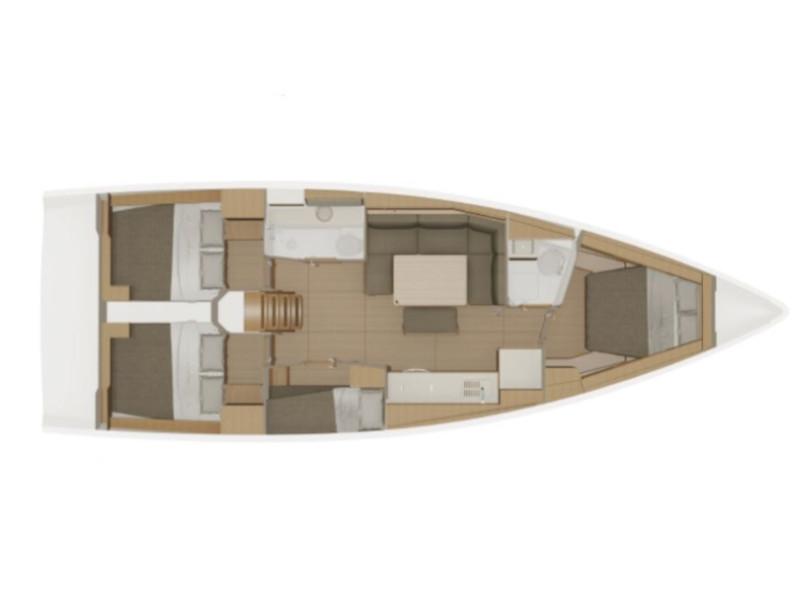 Dufour 430 Grand Large (Billywig) Plan image - 2