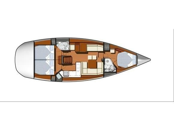 Sun Odyssey 45DS (ath45ds01) Plan image - 2