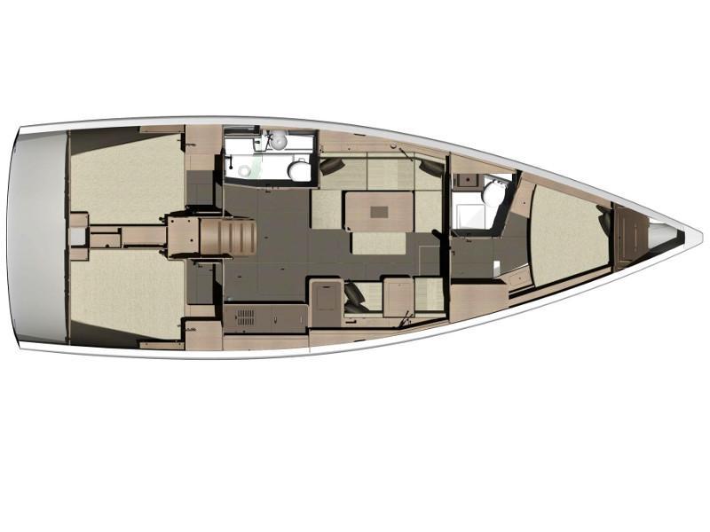 Dufour 412 (CL- 412- 17-CR) Plan image - 1