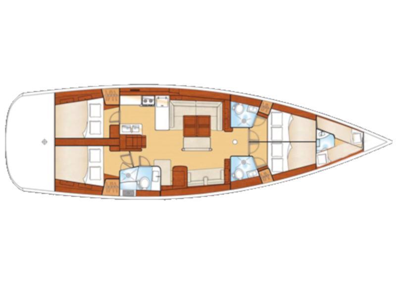 Oceanis 54 (SIRENA De ORO (air condition, generator)) Plan image - 2