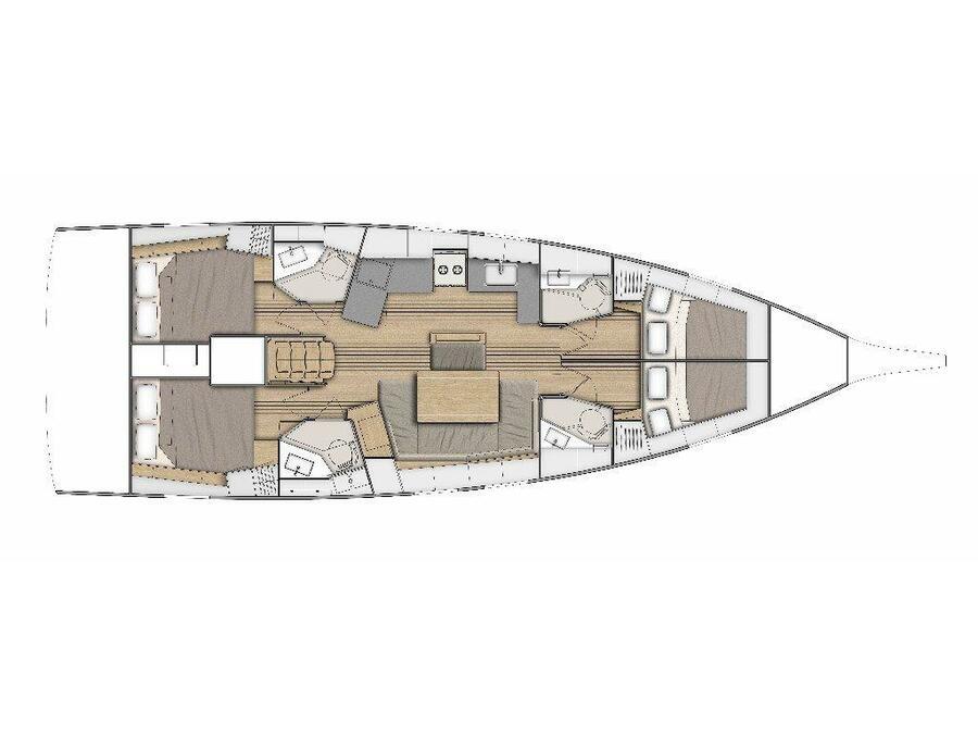 Oceanis 46.1 -4cab (ANDIAMO) Plan image - 1