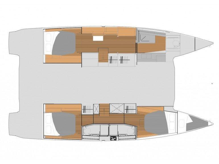 Elba 45 Quatour (PRINCESS VALERIA - AC and generator) Plan image - 4