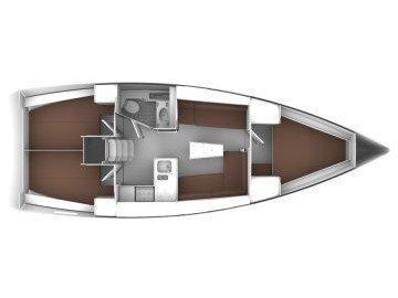 Bavaria Cruiser 37 (Flor de la Mer) Plan image - 1