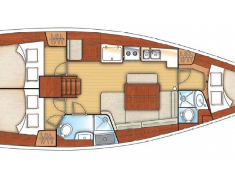 Oceanis 40 (Marie-Andrea) Plan image - 4