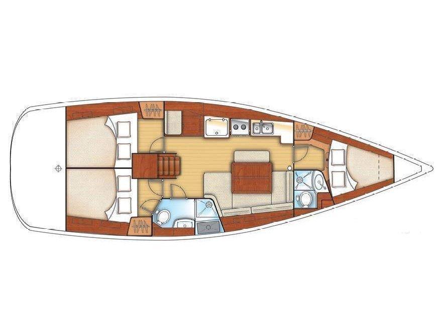 Oceanis 40 (PROSECCO - Refit2017) Plan image - 1