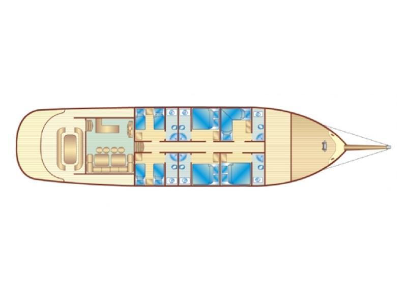 Gulet Bibi Aysegul (Bibi Aysegul) Plan image - 12