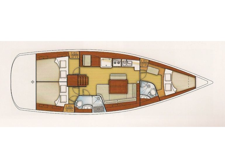 Oceanis 43 (Solitaire) Plan image - 2