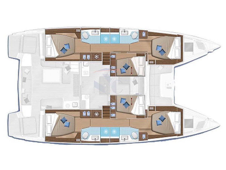 Lagoon 50 (Achilles(Mandatory Skipper-Damage Waiver)) Plan image - 1